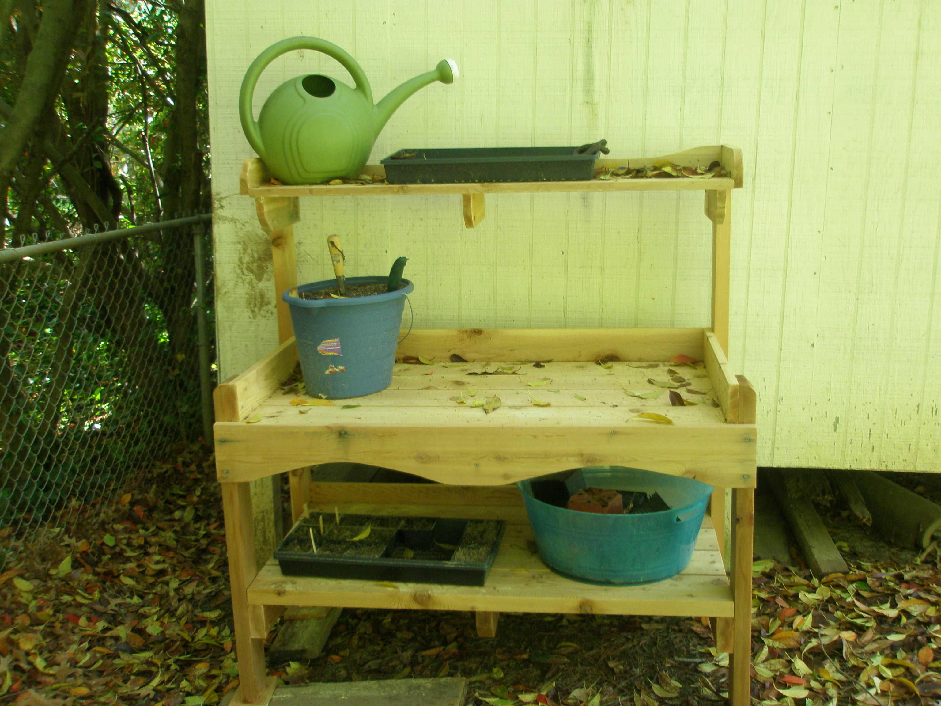 Diy Garden Work Bench Design Download Book Shelf Ladder