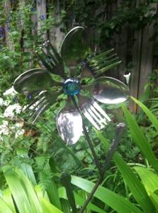 Flower yard art